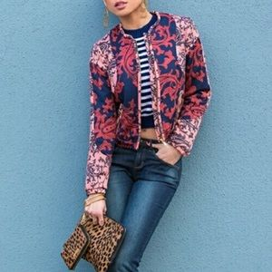 🌵 Jacquard Paisley Quilted Bomber Jacket by H&M